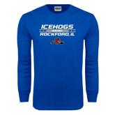 Royal Long Sleeve T Shirt-Hockey Bar Design