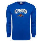 Royal Long Sleeve T Shirt-Arched IceHogs