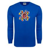 Royal Long Sleeve T Shirt-Autism Puzzle Piece