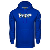 Under Armour Royal Performance Sweats Team Hoodie-IceHogs Wordmark