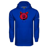Under Armour Royal Performance Sweats Team Hoodie-Pig Butt Logo