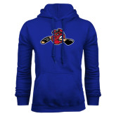 Royal Fleece Hoodie-Hammy w/ Hockey Stick