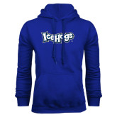 Royal Fleece Hoodie-IceHogs Wordmark