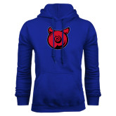 Royal Fleece Hoodie-Pig Butt Logo