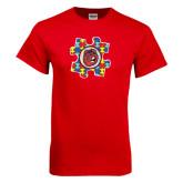 Red T Shirt-Autism Puzzle Piece