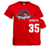 Red T Shirt-Primary Mark, Tee w/ Carruth and #35