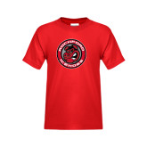 Youth Red T Shirt-Badge