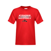 Youth Red T Shirt-Hockey Bar Design