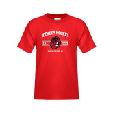 Youth Red T Shirt-Arched Est Year