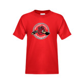 Youth Red T Shirt-Fancy Puck