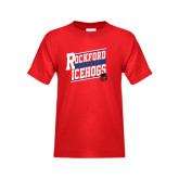 Youth Red T Shirt-Slanted Design