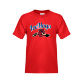 Youth Red T Shirt-Scripted IceHogs