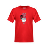 Youth Red T Shirt-State Stacked