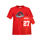 Youth Red T Shirt-Primary Mark, Tee w/ Dowell and #27