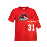 Youth Red T Shirt-Primary Mark, Tee w/ Johansson and #31