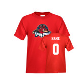 Youth Red T Shirt-Primary Mark, Custom tee w/ Name and #