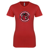 Next Level Ladies SoftStyle Junior Fitted Red Tee-Badge