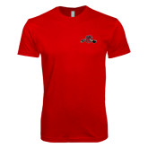 Next Level SoftStyle Red T Shirt-Hammy w/ Hockey Stick