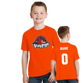 Youth Orange T Shirt-Primary Mark, Custom tee w/ Name and #