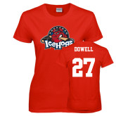 Ladies Red T Shirt-Primary Mark, Custom tee w/ Dowell and 27