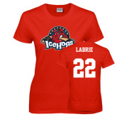 Ladies Red T Shirt-Primary Mark, Custom tee w/ Labrie and 22