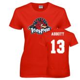 Ladies Red T Shirt-Primary Mark, Custom tee w/ Abbott and 13