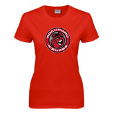Ladies Red T Shirt-Badge