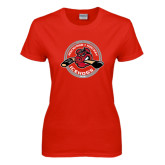 Ladies Red T Shirt-Fancy Puck