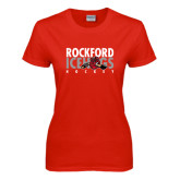 Ladies Red T Shirt-Ice Distressed
