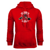 Red Fleece Hoodie-Circle Design