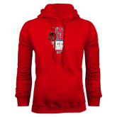 Red Fleece Hoodie-State Stacked