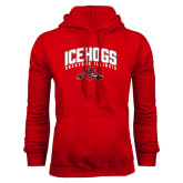 Red Fleece Hoodie-Arched IceHogs
