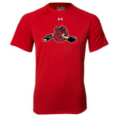 Under Armour Red Tech Tee-Hammy w/ Hockey Stick