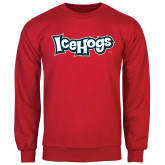 Red Fleece Crew-IceHogs Wordmark