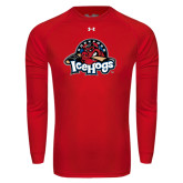 Under Armour Red Long Sleeve Tech Tee-Primary Mark
