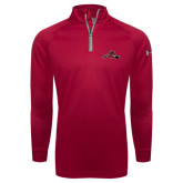 Under Armour Red Tech 1/4 Zip Performance Shirt-Hammy w/ Hockey Stick