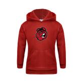 Youth Red Fleece Hoodie-Hammy Head