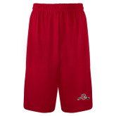 Syntrel Performance Red 9 Inch Length Shorts-Hammy w/ Hockey Stick