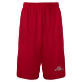 Syntrel Performance Red 9 Inch Length Shorts-Hammy w/ Hockey Stick