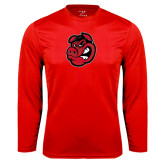 Performance Red Longsleeve Shirt-Hammy Head