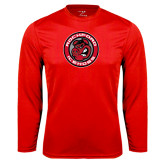 Performance Red Longsleeve Shirt-Badge