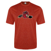 Performance Red Heather Contender Tee-Hammy w/ Hockey Stick