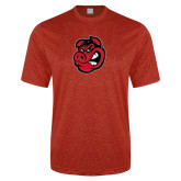 Performance Red Heather Contender Tee-Hammy Head