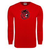 Red Long Sleeve T Shirt-Hammy Head