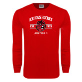Red Long Sleeve T Shirt-Arched Est Year