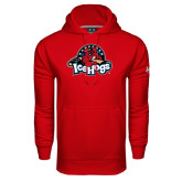 Under Armour Red Performance Sweats Team Hood-Primary Mark