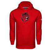 Under Armour Red Performance Sweats Team Hoodie-Hammy Head