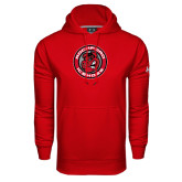 Under Armour Red Performance Sweats Team Hood-Badge