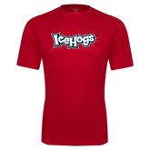 Performance Red Tee-IceHogs Wordmark