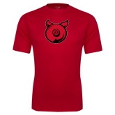 Performance Red Tee-Pig Butt Logo